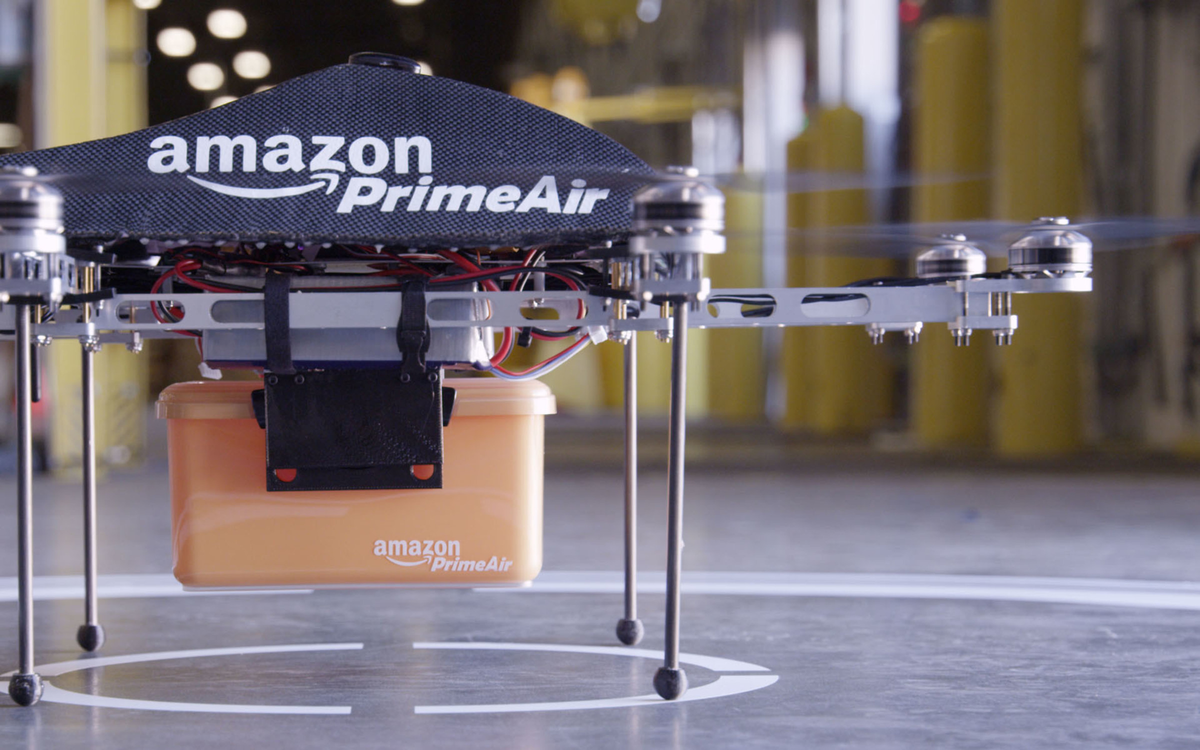 Entregador da Amazon - Prime Air